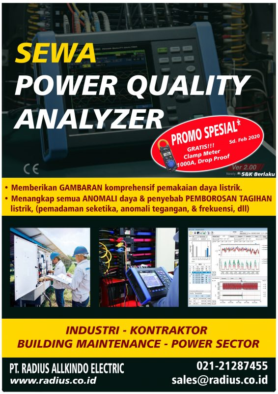sewa rental power quality analyzer